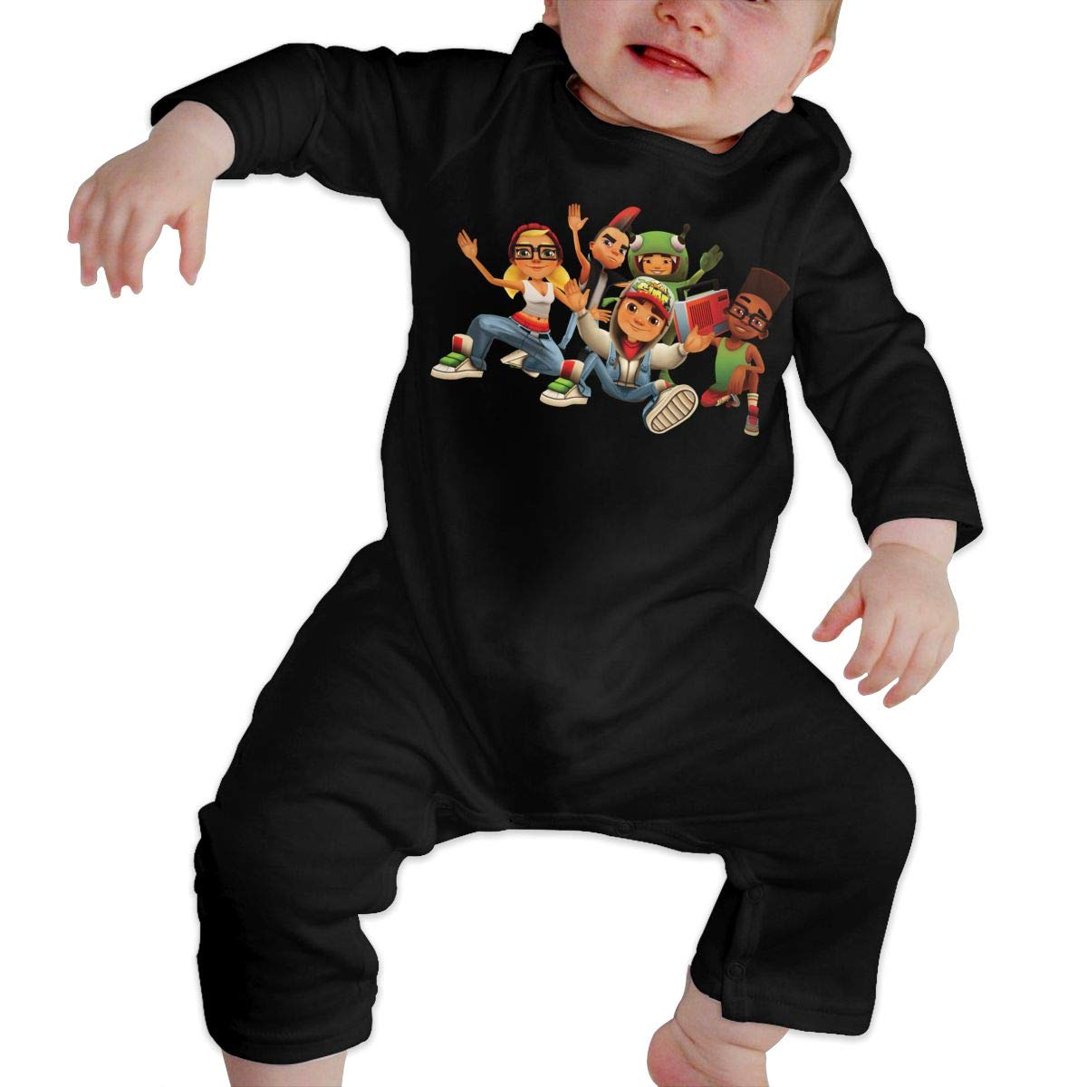 Gary Katte S-Y-B-O Newborn Jumpsuit Infant Baby Girls Long-Sleeve Bodysuit Playsuit Outfits Clothes Black