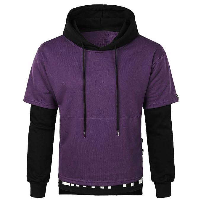 ♚ Sudadera para Hombre Splice, Hombre Casual Otoño Invierno de Manga Larga con Capucha Pullover Sweatershirt Blusa Absolute: Amazon.es: Ropa y accesorios