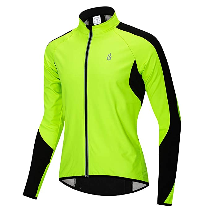 51c704b6d Wolfbike Fleece Thermal Cycling Jacket Jersey Long Sleeve Windproof  UV-Protect Coat Green M