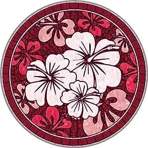 Piscina de mosaico de colocar bajo el agua piscina Art–Hibiscus Mosaic–rojo