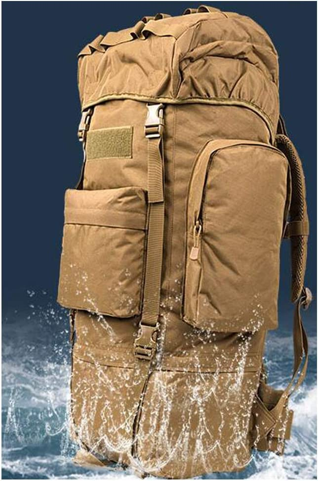 Haoyushangmao Hiking and Camping Inner Frame Waterproof Backpack-115L 70L Latest Models Color : Beach, Size : 70L