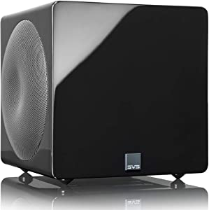 SVS 3000 Micro Subwoofer (Piano Gloss Black)   Active Dual 8-in Drivers, 800 Watt RMS, Sealed Cabinet