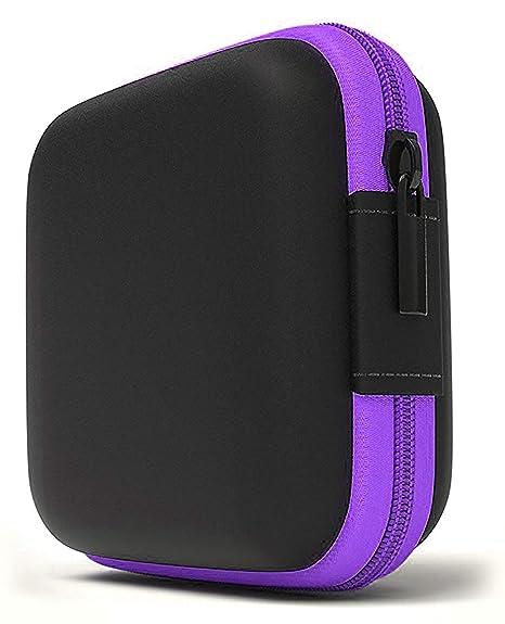 Lucklystar Funda Auriculares Mini Bolsa Almacenamiento Rígida, Coleccion Cremallera Zipper Cubierta Bag Caja Estuche para Auriculares Bluetooth, Apple ...