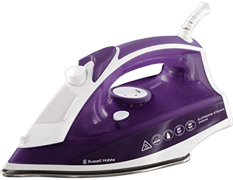 Russell Hobbs Supreme Steam Traditional Iron 23060 2400 W Purple