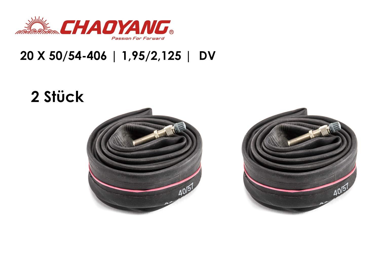 20 Zoll Fahrrad Schlauch Chaoyang Dunlopventil 20x1,95//2,125 DV 50//54-406 Tube