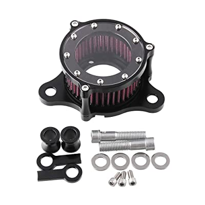 Air Cleaner Intake Filter System Kit For Harley Davidson Sportster XL883 XL883N XL883R XL883P XL1200 XL1200L XL1200X Iron 883 Forty Eight XL1200X 2004-2016 Billet Aluminum CNC Machined Washable: Automotive