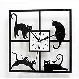 classic black kit cat klock cuisine maison. Black Bedroom Furniture Sets. Home Design Ideas