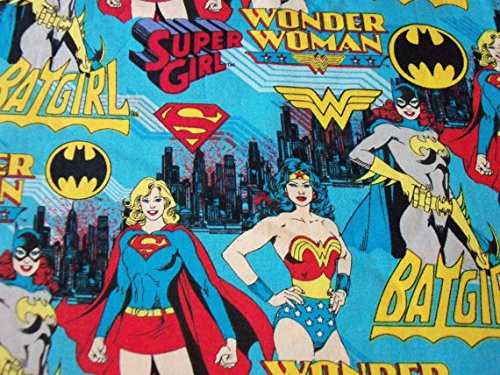 Wonder Woman Bat Girl Super Girl Fabric By the Fat Quarter New BTFQ]()
