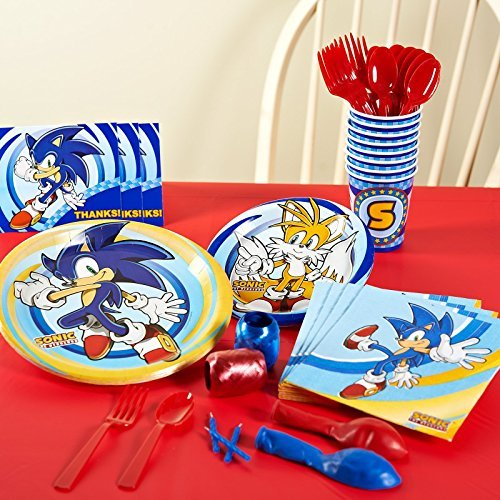 Sonic the Hedgehog Party Supplies - Basic Party Pack for 8 by BirthdayExpress (Sonic The Hedgehog Basic Party Pack)