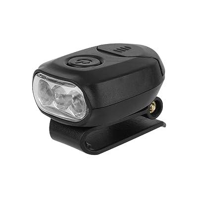 5PCS 3 LED Lampe de Casque Eclairage Frontale de Tête Lampe à Clip de Casquette pour Pêche Camping Randonnée (Batterie Non Incluse)