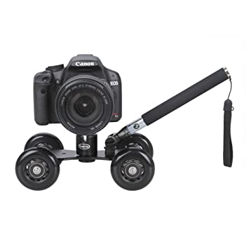 Koolertron - Soporte con ruedas + 360 ° Trípode Rotula Joby Pro + Handheld Monopod para