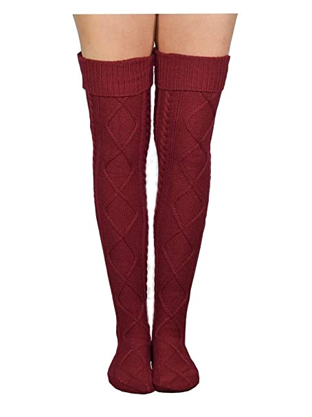 Amazon Womens Cable Knitted Boot Socks Leg Warmer