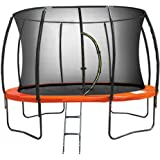 Kahuna Trampoline 10 ft Safety Pad Mat Net - Orange
