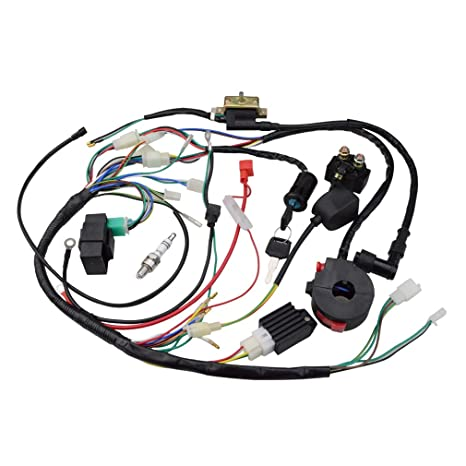 amazon com goofit ignition rebuild kit wiring harness for 50cc 90cc rh amazon com bike wiring kit price twister bike wiring kit