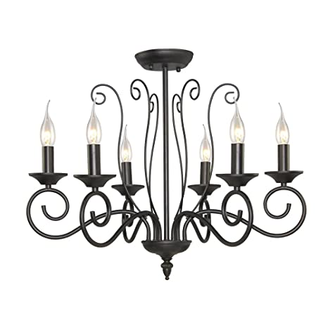 official photos d921f a5299 LALUZ 6-Light Small Transitional Chandeliers for Dining Room, 24