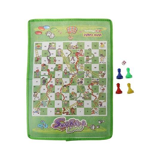 Serpiente y escalera para niños, ajedrez volador, tela no tejida ...