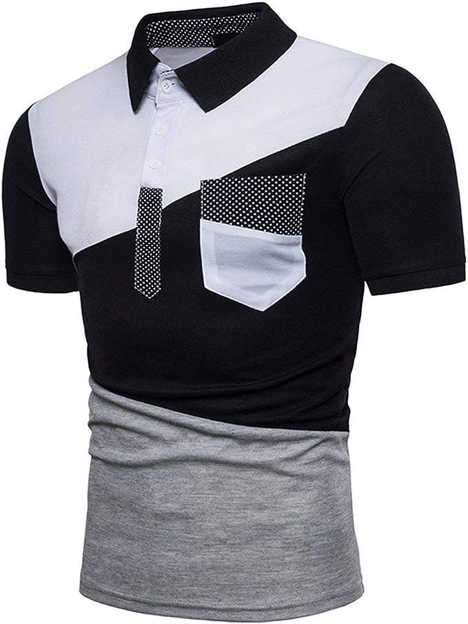 Camisa De Polo De Manga Corta Slim En Cuello Fit con V para Hombre ...