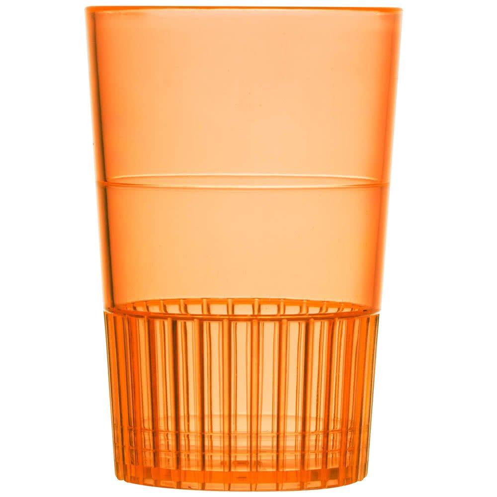 Fineline Quenchers 4115-ORG 1.5 oz. Neon Orange Hard Plastic Shooter Glass - 500/Case by Fine-line