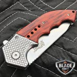 """Only US 9"""" M-TECH STEAM Punk Spring Assisted Open Tactical Folding Pocket Knife Wood New 8"""