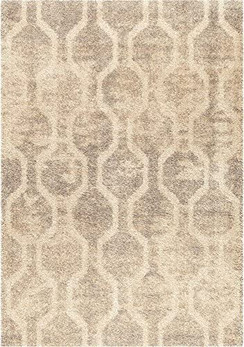 Orian Rugs Majestic Shag Fence Line Silver Area Rug, 7 10 x 10 10 , Silver