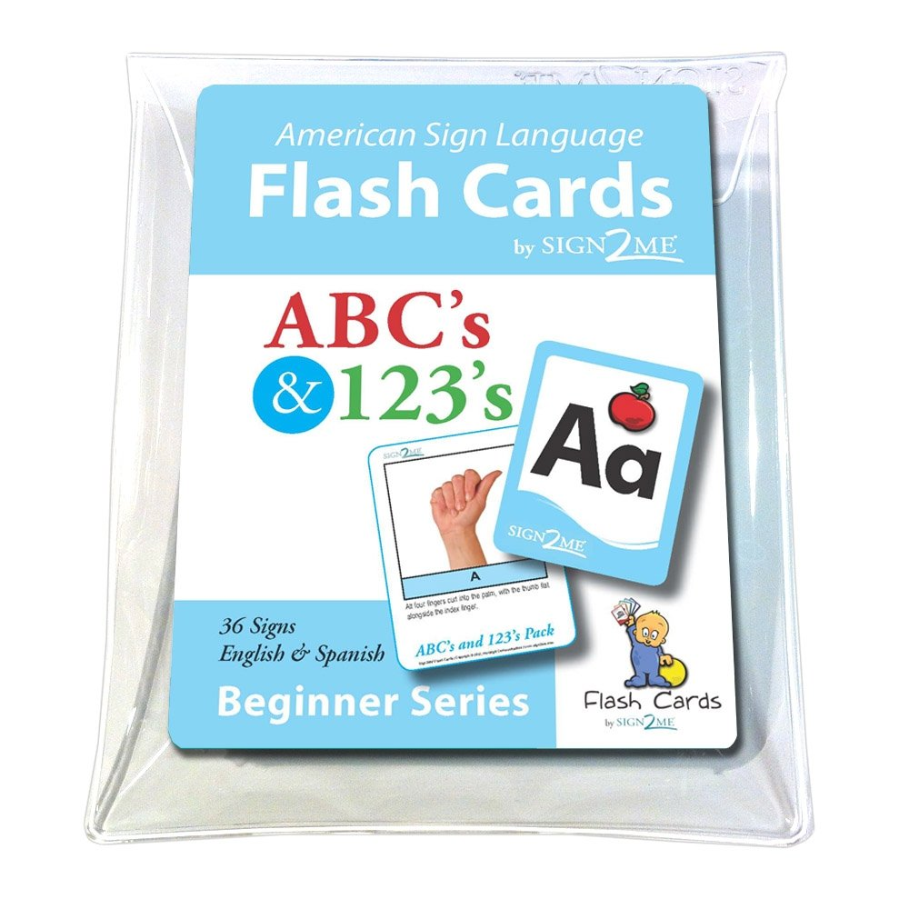 ASL Flash Cards - Learn Signs for ABC's and 123's - English, Spanish and American Sign Language (American Sign Language Flash Cards) (English and Spanish Edition) by Sign2Me Early Learning/Northlight Communications Inc.
