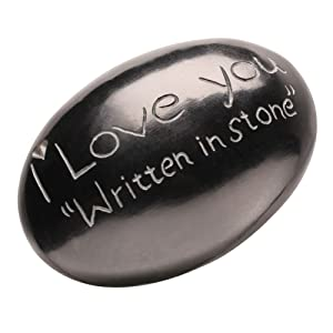 I Love You Written in Stone - Cute and Funny Collectable Gift Stone
