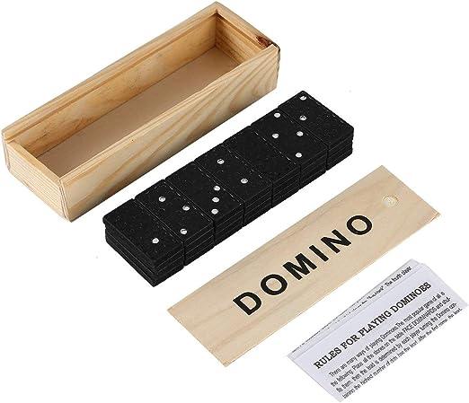 Juego de dominó- Juego de fichas de dominó de 28 Piezas Juego de ...