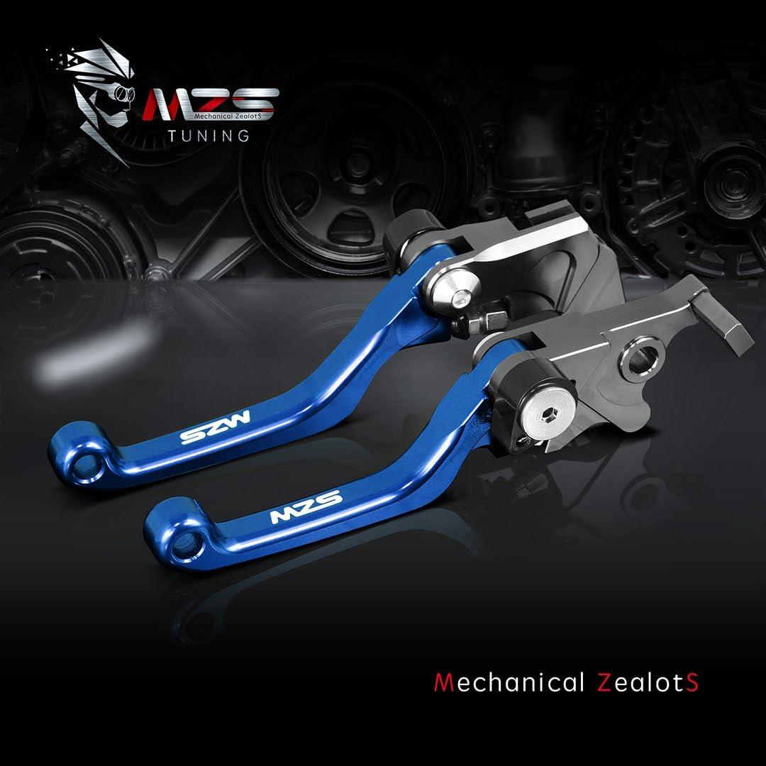 MZS Pivot Levers Brake Clutch foldable CNC Blue for Suzuki DRZ400S DRZ400SM 2000-2018