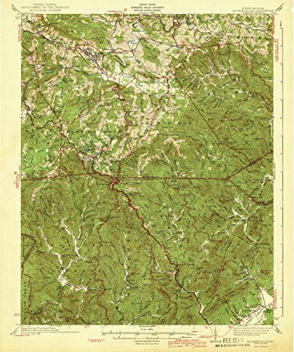 North Carolina Maps | 1942 Blowing Rock, NC USGS Historical Topographic Map |Fine Art Cartography Reproduction - North Carolina Blowing Rock
