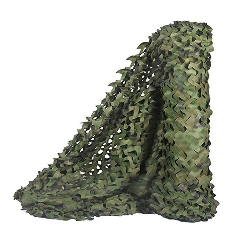 2x7m Ljdgr Filet Camo Visière Extérieure GR Le Parasol extérieur de Camouflage de Jungle Peut être personnalisé (Taille  6X8M) Armée Camo Filet (Taille   5x5M)