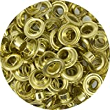 Springfield Leather Company Solid Brass 1/4'' Grommets 100 Pack