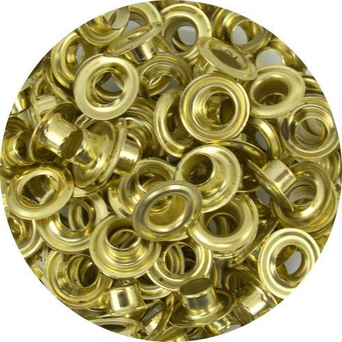 Springfield Leather Company Solid Brass 1/4'' Grommets 100 Pack by Springfield Leather Company