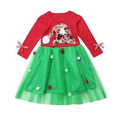 ❤️ Tefamore 6 Mes - 5 años Niña Disfraz Navidad Ropa ...