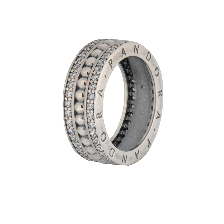 b3cf463b6cc9b5 Amazon.com: PANDORA Forever PANDORA Ring, Clear CZ 190962CZ-54 EU 7 US:  Jewelry