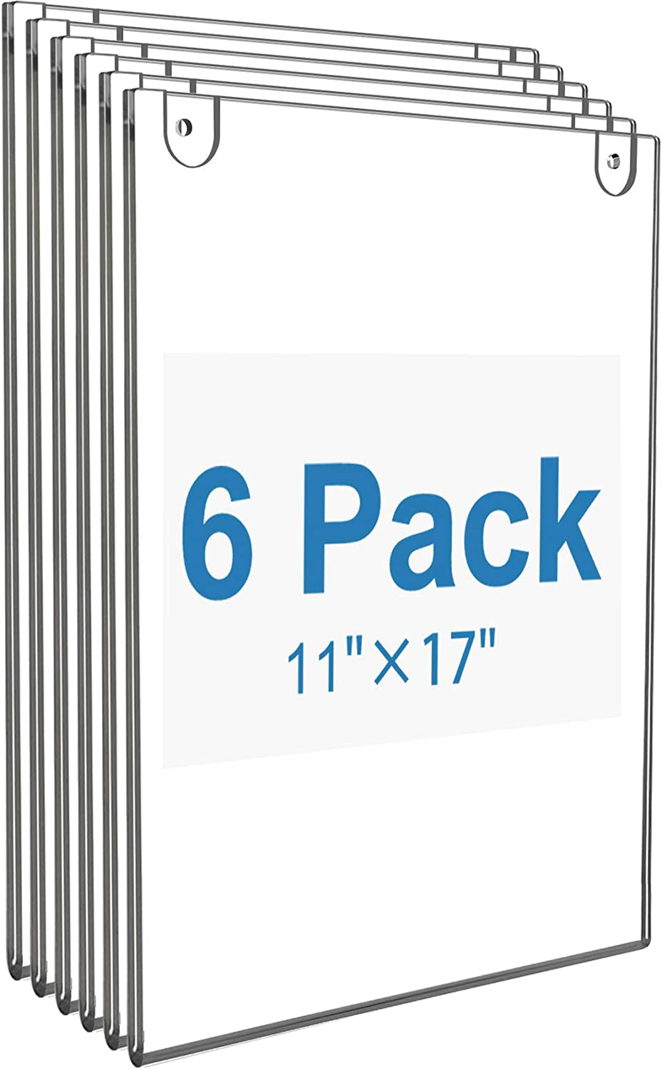 MaxGear Acrylic Sign Holder 8.5 x 11 Sign Holders Plastic Frames Clear Frame 8.5x11 Wall Mount Sign Holder Wall Sign Holder with 3M Tape Adhesive Poster Document Flyer for Plexiglass 3 Pack Door