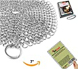 "Best Scrub Pads For Grill Brushes - KitCast The Original 7"" Stainless Steel Cast Iron Review"