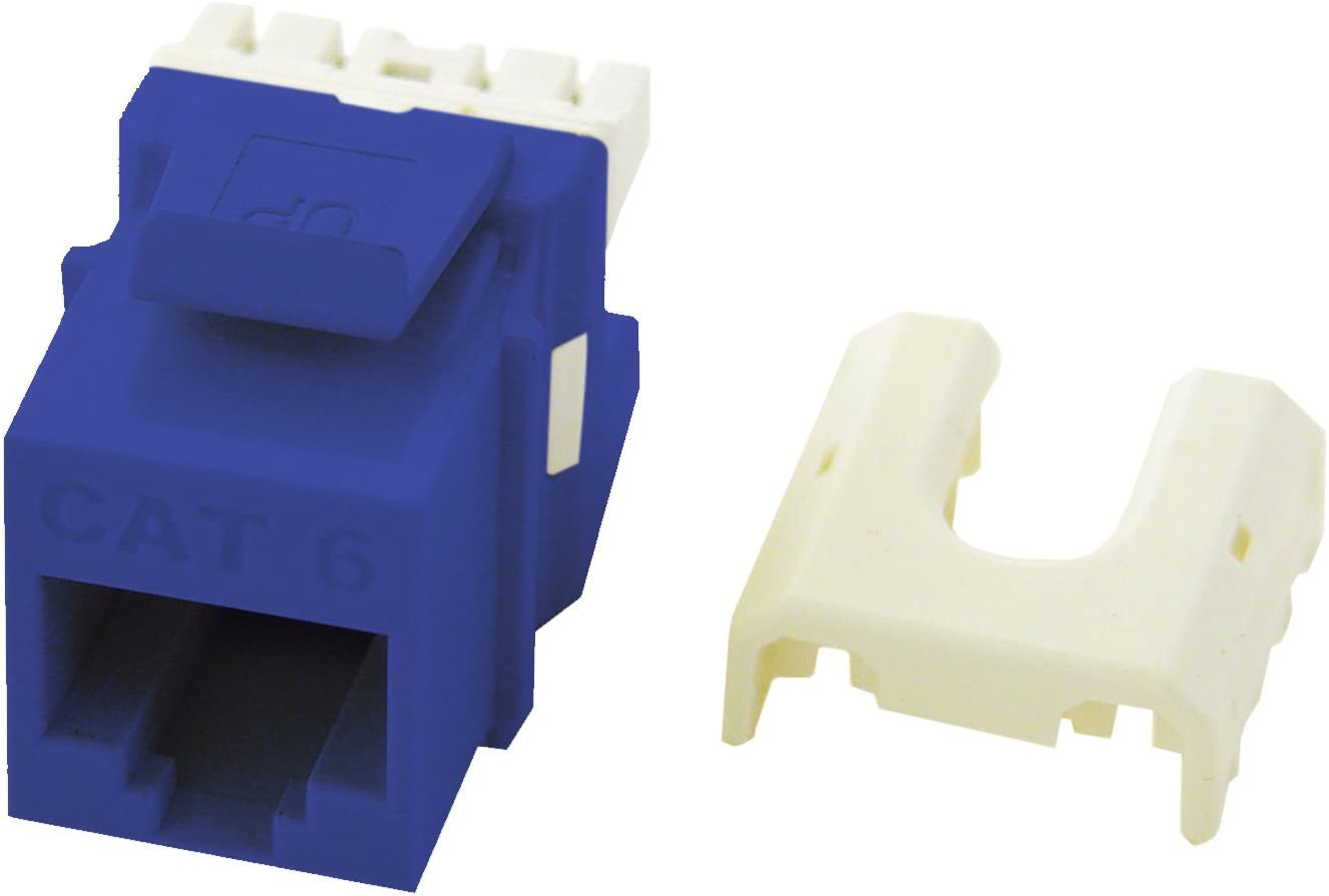 ON-Q LEGRAND WP3476-BE CATEGORY 6 QUICK-CONNECT RJ45 KEYSTONE JACK CAT6 BLUE