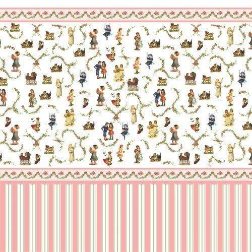 Amazon Com The Dolls House Emporium Victorian Nursery Wallpaper By