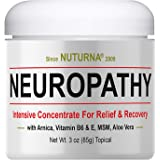 Neuropathy Nerve Pain Relief Cream - Maximum Strength Relief Cream for Feet, Hands, Legs, Toes Pain Reliever, Large 3 oz Ultr