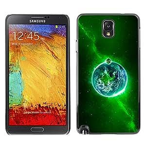Sagrado Fuego Verde - Metal de aluminio y de plástico duro Caja del teléfono - Negro - Samsung Note 3 N9000
