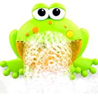 FnieYxiu Toys, Cartoon Frog Electric Bubble Blower Machine Music Play Interactive Kids Bath Toy