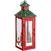 OSALADI Snowman Lamp Festival Retro Candle Lantern Christmas Hanging Props Ornament Decoration Santa Claus Box Holder