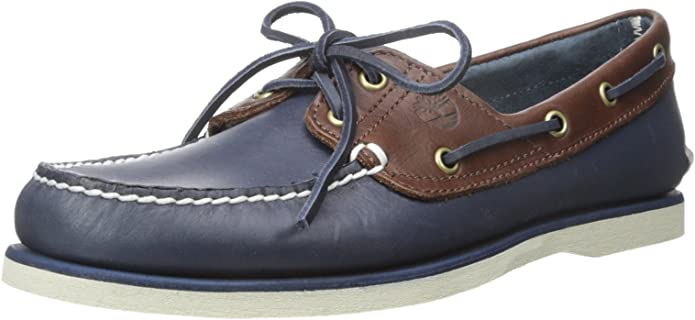 TALLA 40 EU. Timberland Classic Boat 2 Eyevintage Indigo and Potting Soil Two-Tone, Zapatos del Barco para Hombre