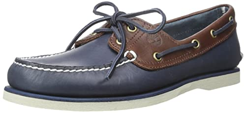 Timberland Men's Classic Boat 2 Eyevintage Indigo and Potting Soil Two-Tone  Shoes, Blue
