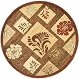 Safavieh Lyndhurst Collection LNH554-2591 Traditional Brown and Multi Round Area Rug (5'3
