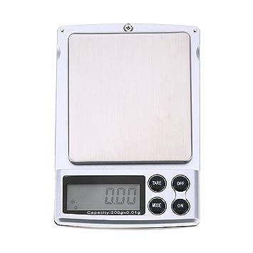 Starnearby Palm Mini Pocket Jewelry - Báscula electrónica de equilibrio de peso digital para cocina, báscula de alimentos, pantalla retroiluminada: ...