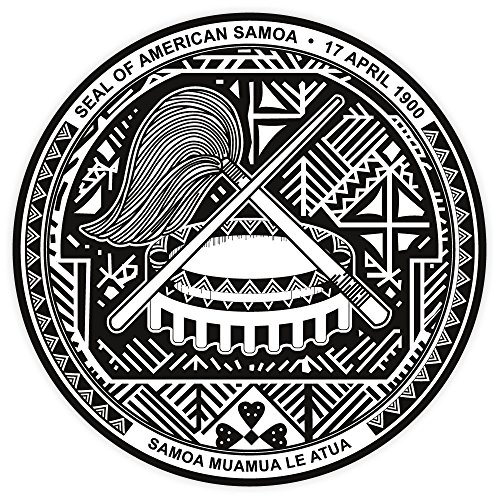 American Samoa coat of arms sticker decal 4