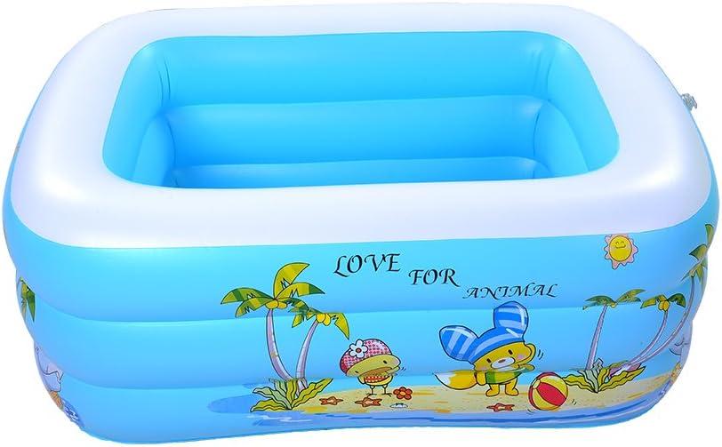 Pueri Piscina hinchable rectangular 3 anillos 45*85*110cm Piscina para bebé color al azar: Amazon.es: Juguetes y juegos