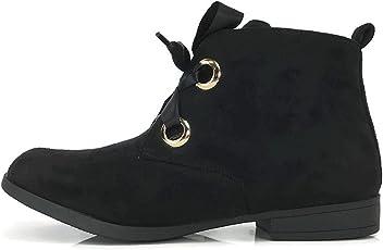 e27669a83 Steven Ella Women s Fashion Ankle Bootie Lace Up Ribbons Faux Suede Flat  Heel