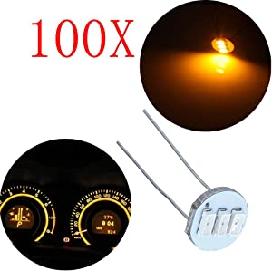 SCITOO 100Pcs 4.7mm Dash Light Bulbs Instrument Gauge Cluster Light Bulbs Speedometer Gauge Cluster Lights